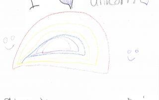 I love unicorn and you and rainbow!