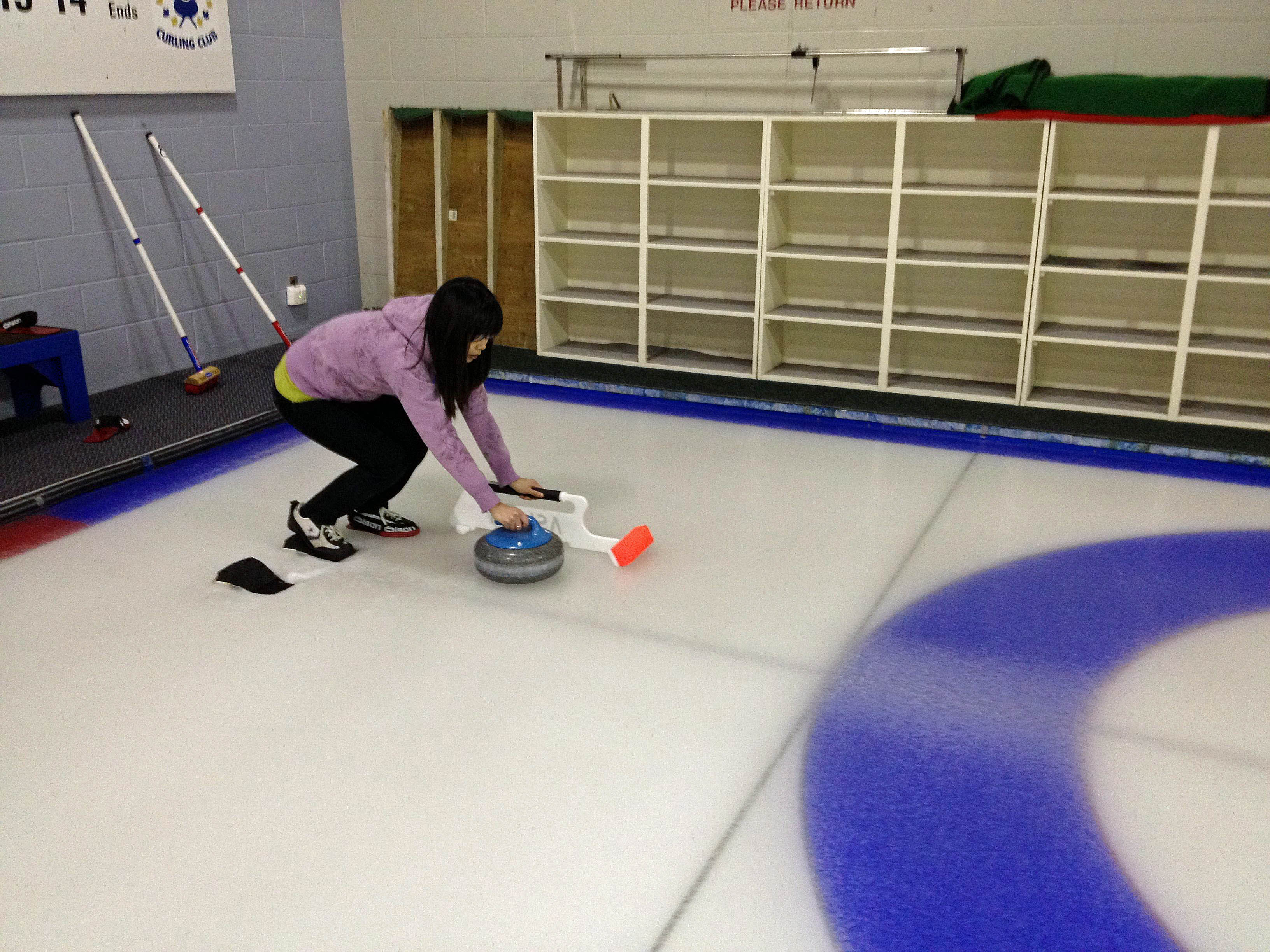 Curling with Bret Pearson's lab