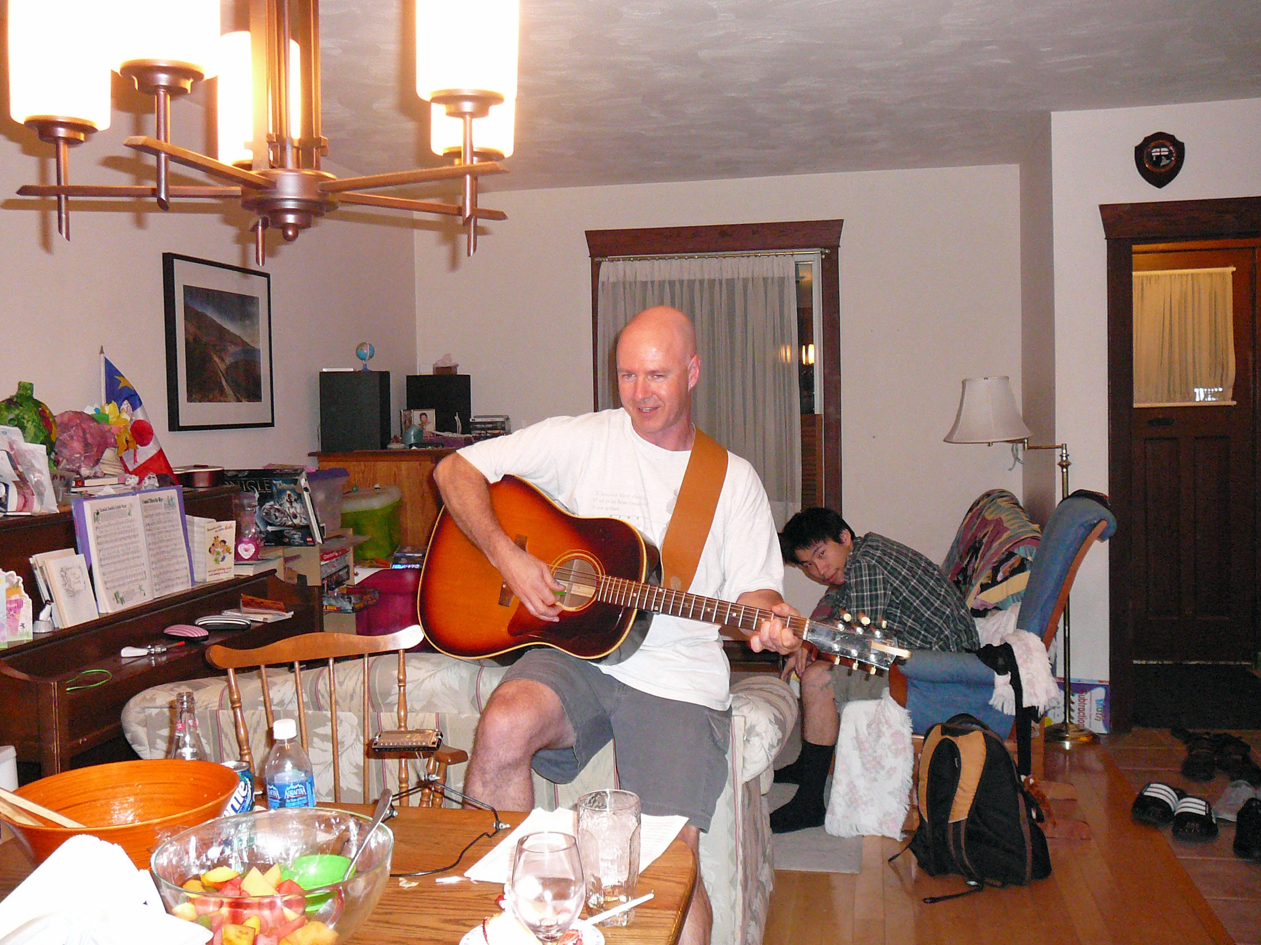 Brent sings a few songs to clear the room