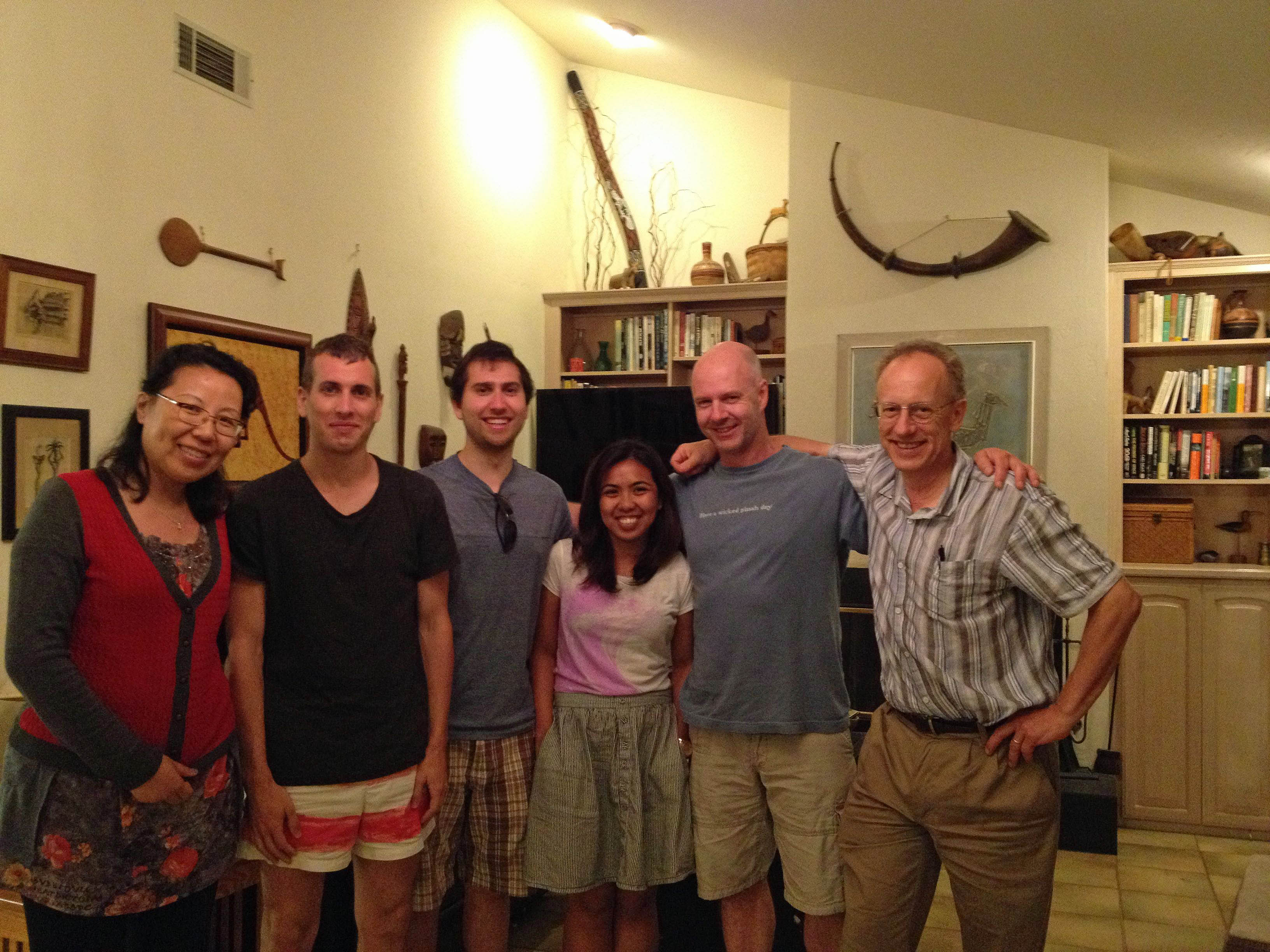 Hanging out with Dr. Joel Rothman, Brent's Post Doc Advisor