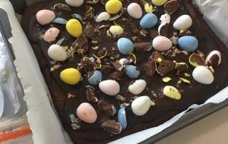 Mini-Egg Brownies Made by Rachel