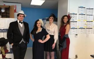 Samuel Krempel, Taylor Becker, Rachel Webster and Sara Vaughan dress up for a Downton Abbey Get-together