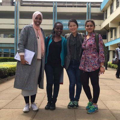 University of Toronto undergraduate and graduate students during their placement at the University of Nairobi, Summer 2016