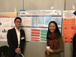 Adrina and Kai present their poster at the Global Health Students and Young Professionals Summit.
