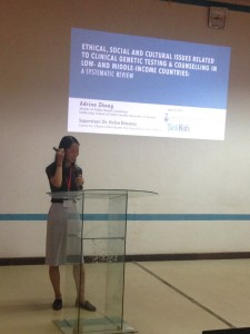 Adrina Zhong presents her research at the University of Nairobi Science and Innovation Conference.