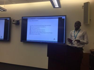Ken gives a presentation at SickKids.