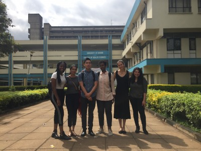 The 2018 team arrives at the University of Nairobi.