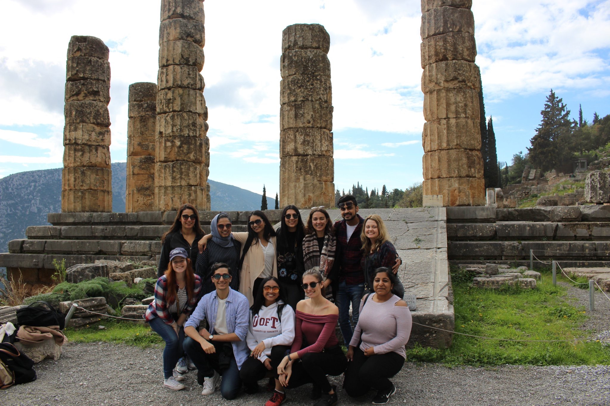 The team visits the Oracle at Delphi.