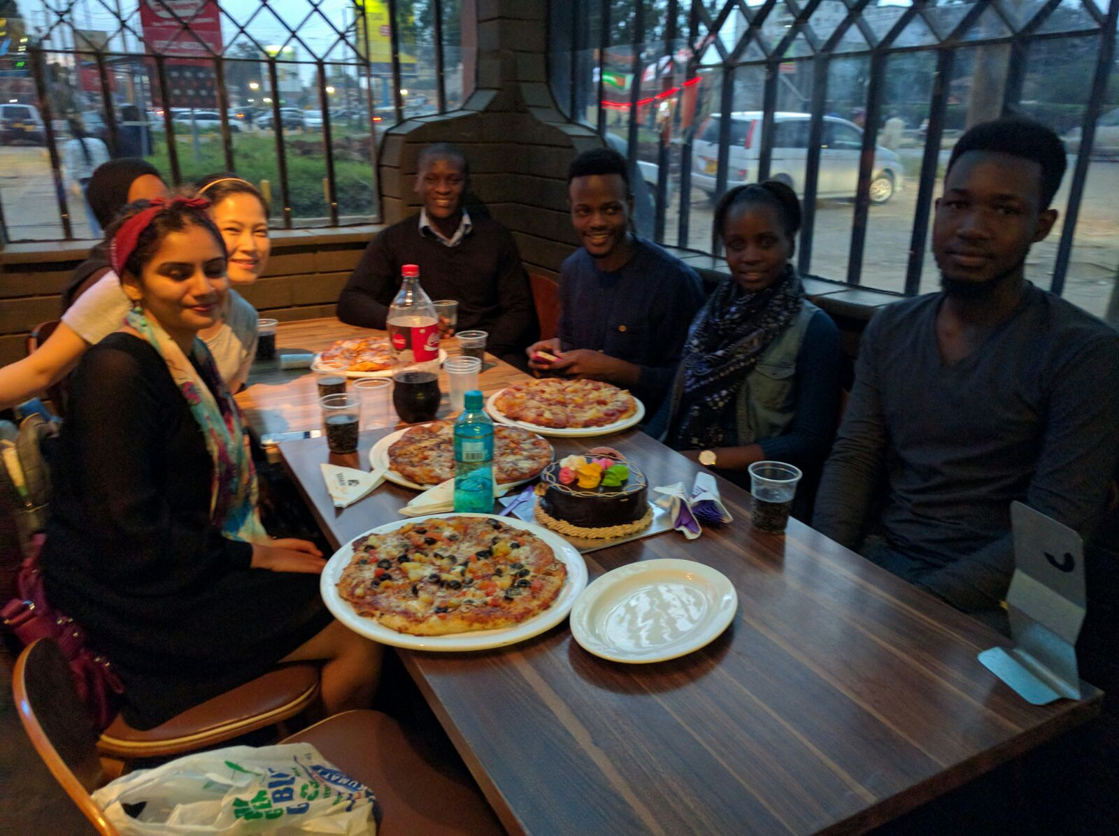 QE scholars group dinner.