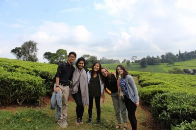 The team explores Kenya.