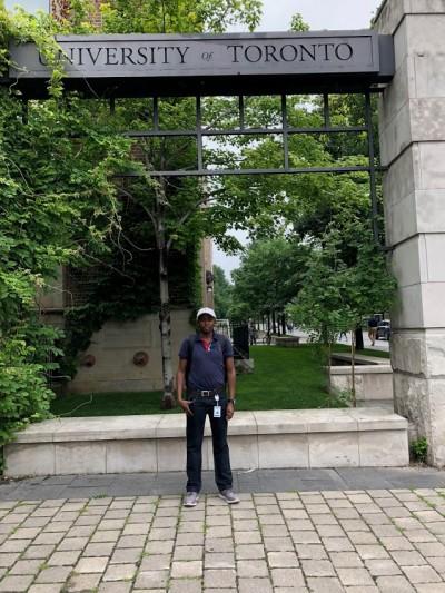 Simon on campus.