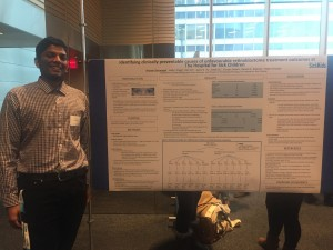 Arunan presents at Cancer Research Day