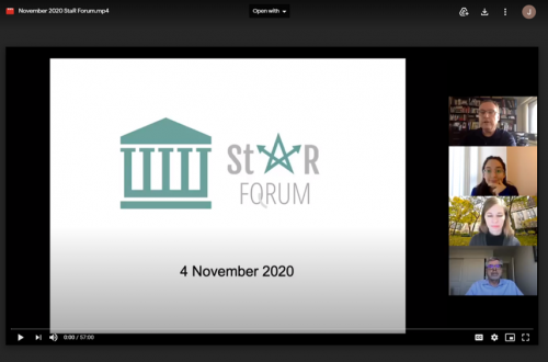 StaR Forum Presentation Title Page