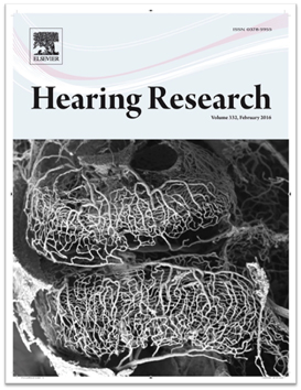 Hearing Research journal cover - work published in 2016