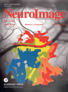 Neuroimage journal cover - work published in 2000