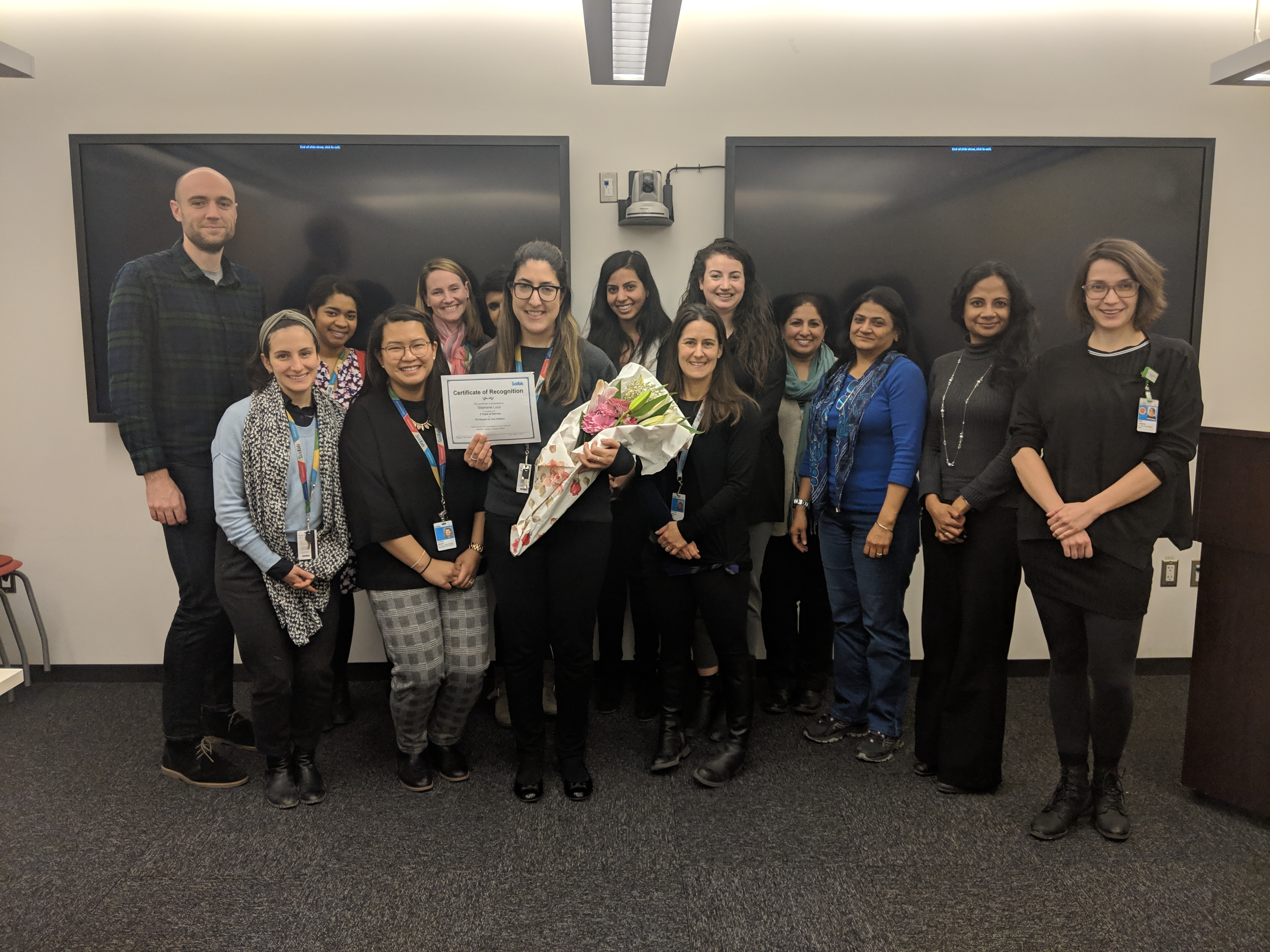 Celebrating Stephanie's 5 Years at SickKids - March 2019
