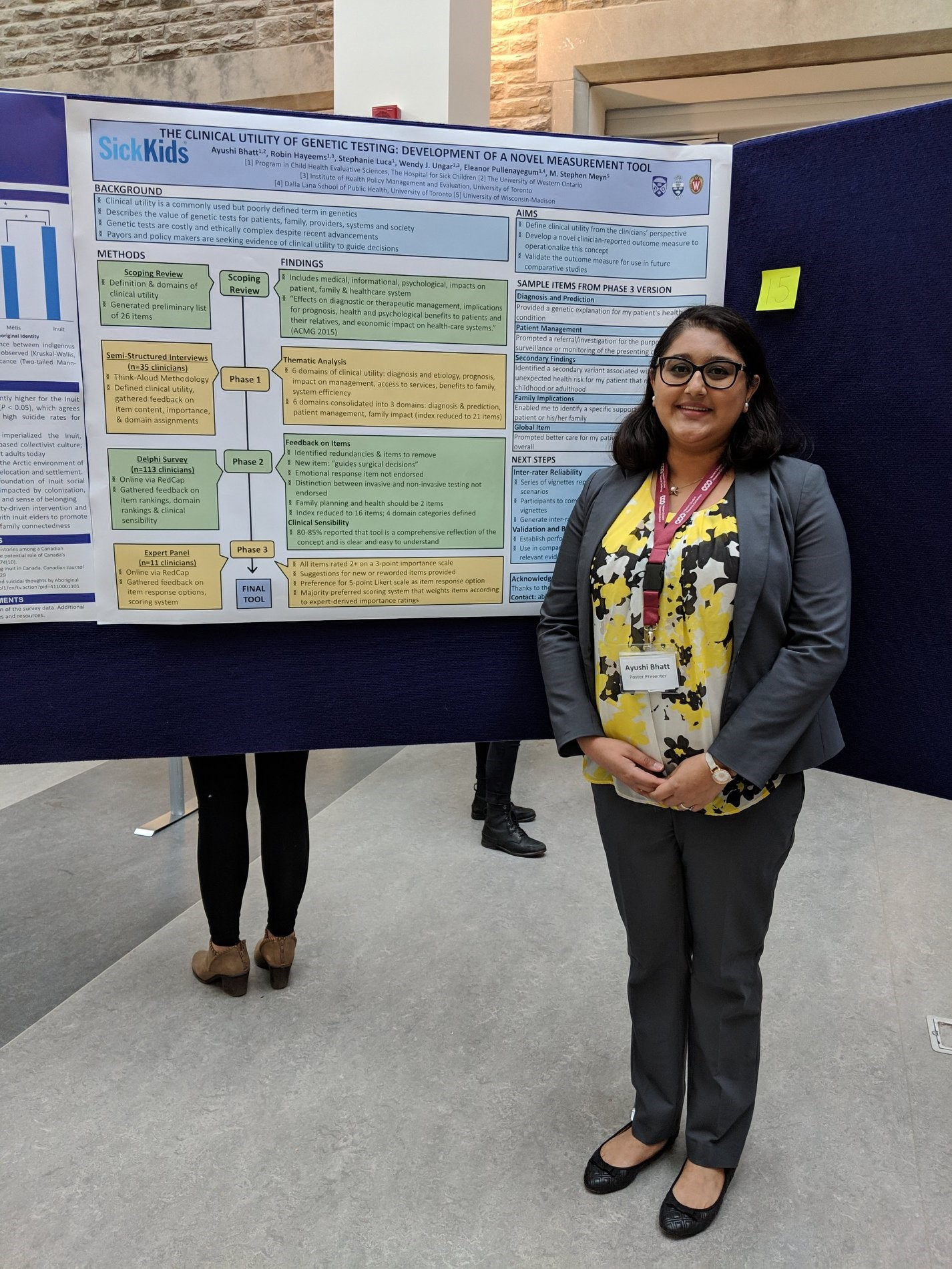 Ayushi Bhatt presenting at the Western University Undergraduate Student Research Conference - March 2019