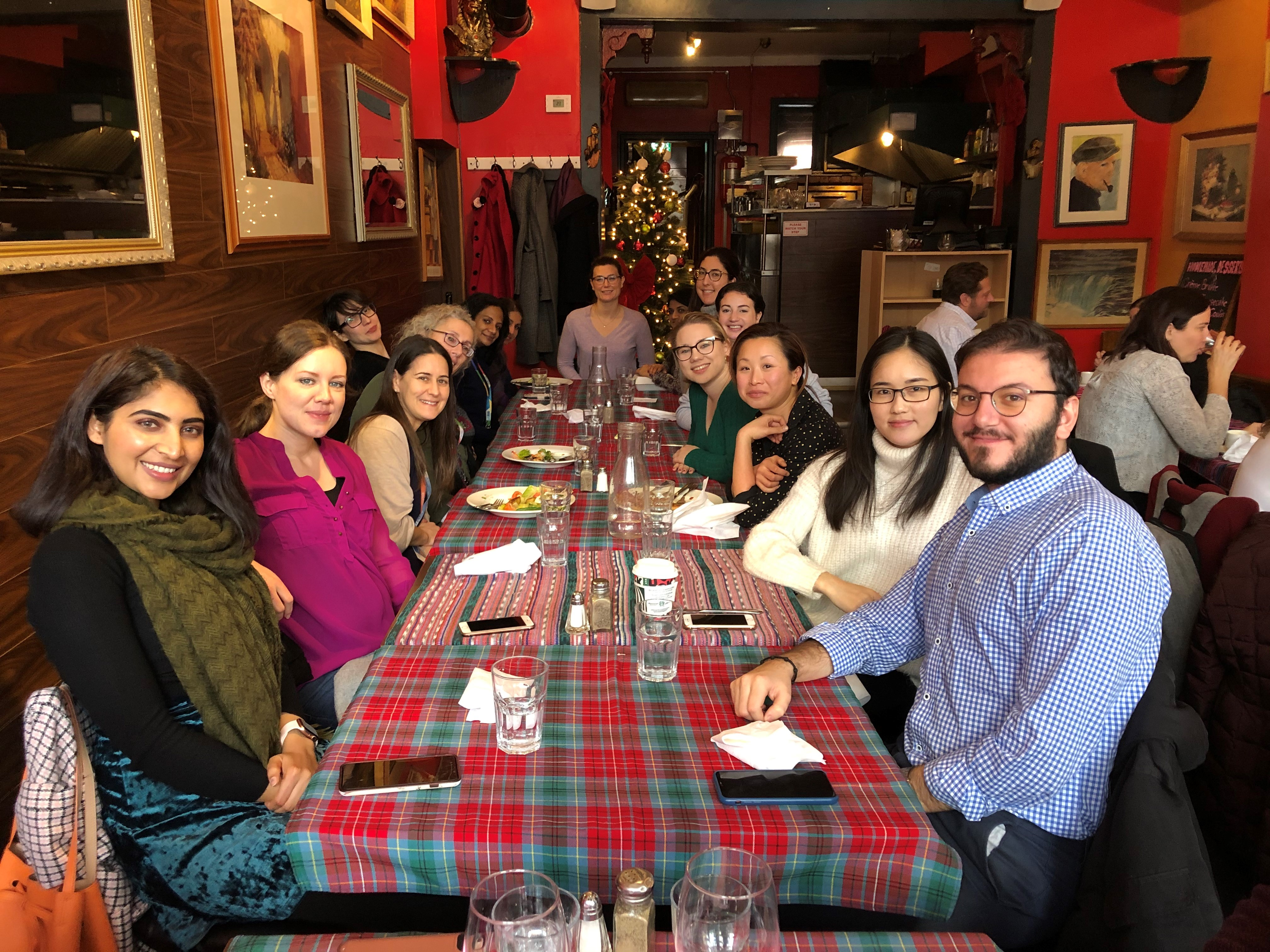 Lab Holiday Lunch with Dr. Wendy Ungar's team - December 2019