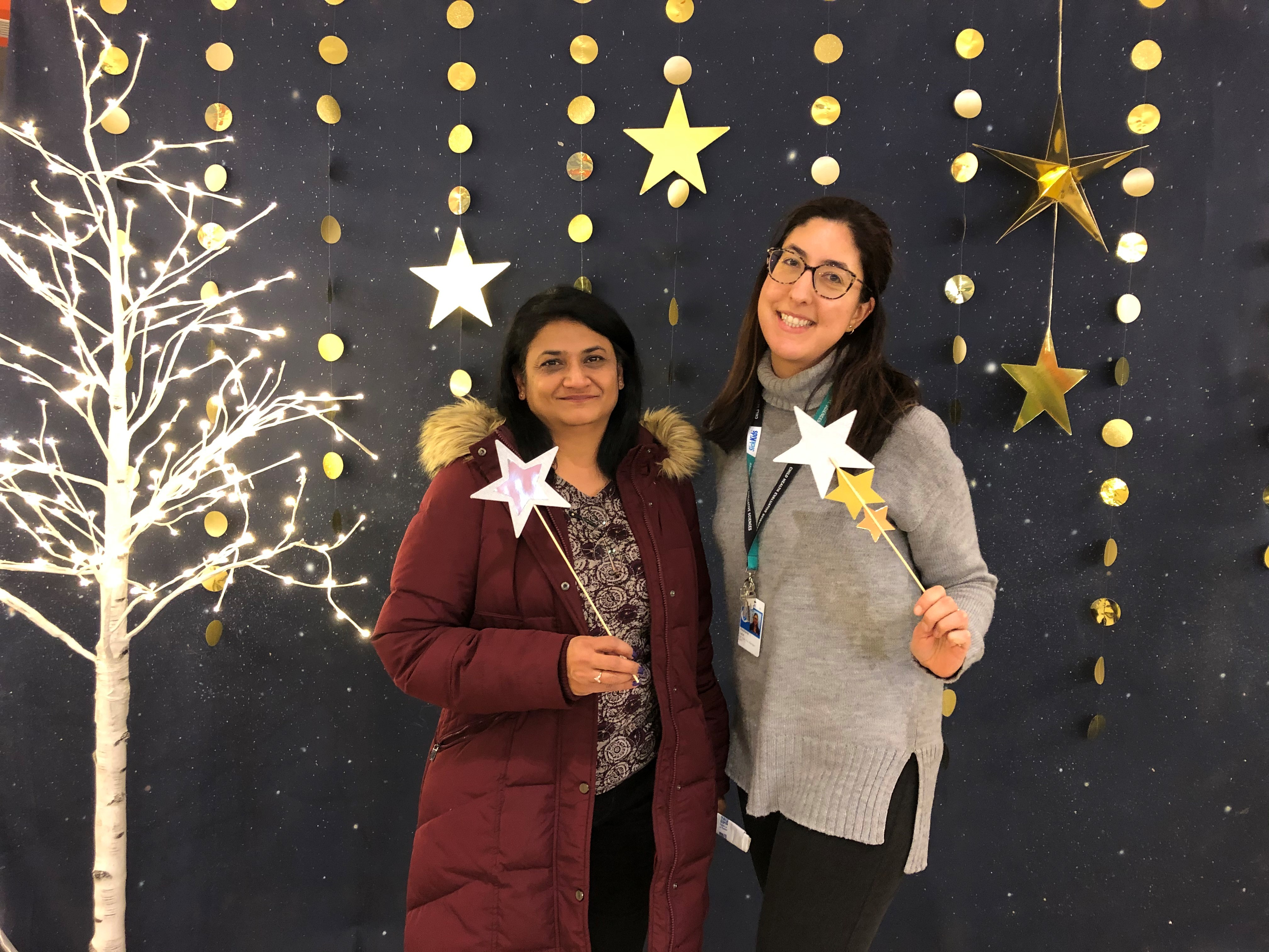 Viji and Stephanie at the SickKids Celebration of Excellence - December 2019