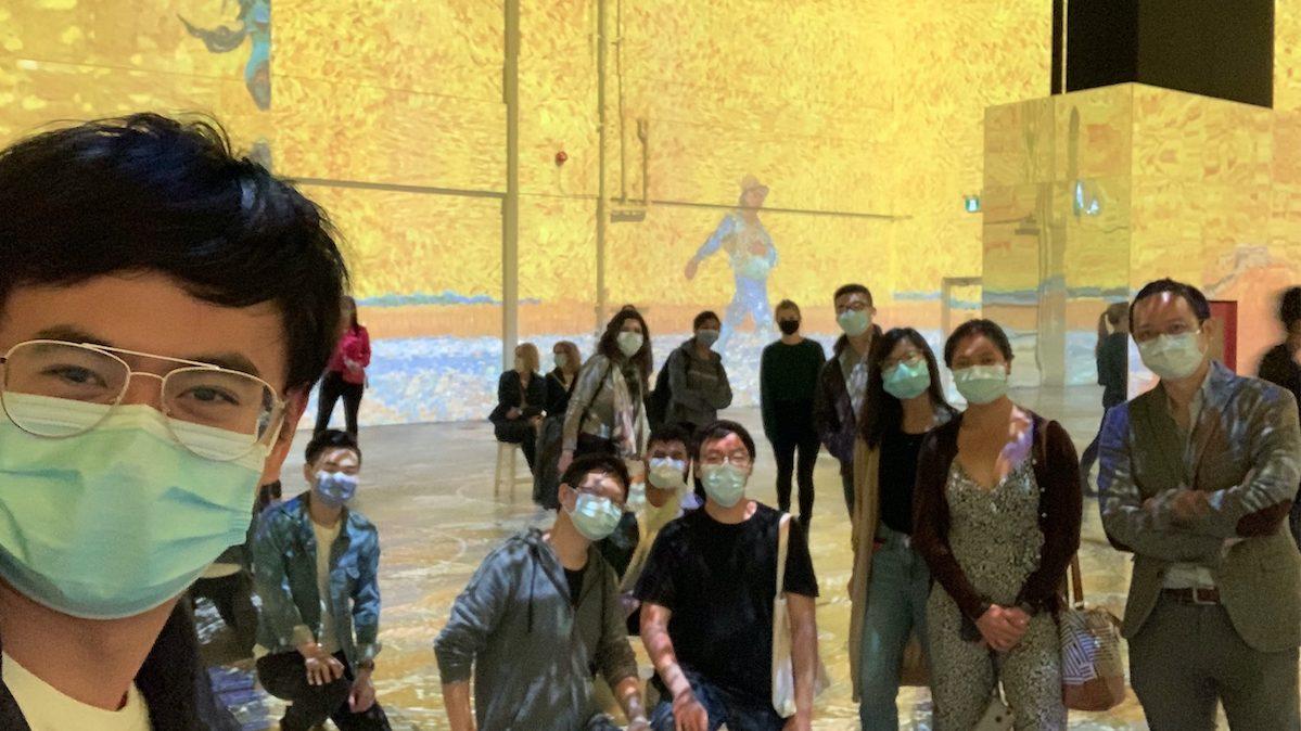Huang lab visit to Van Gogh;s exhibit