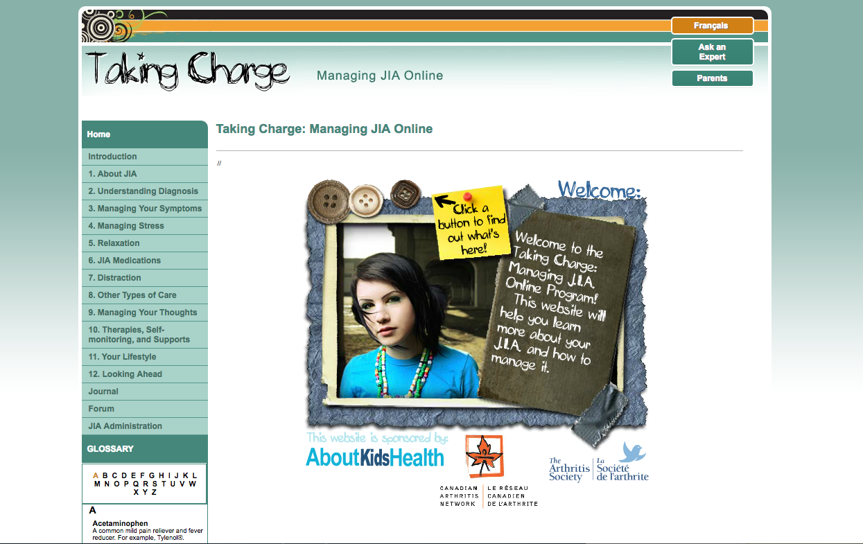 Photo of Teens Taking Charge JIA landing page