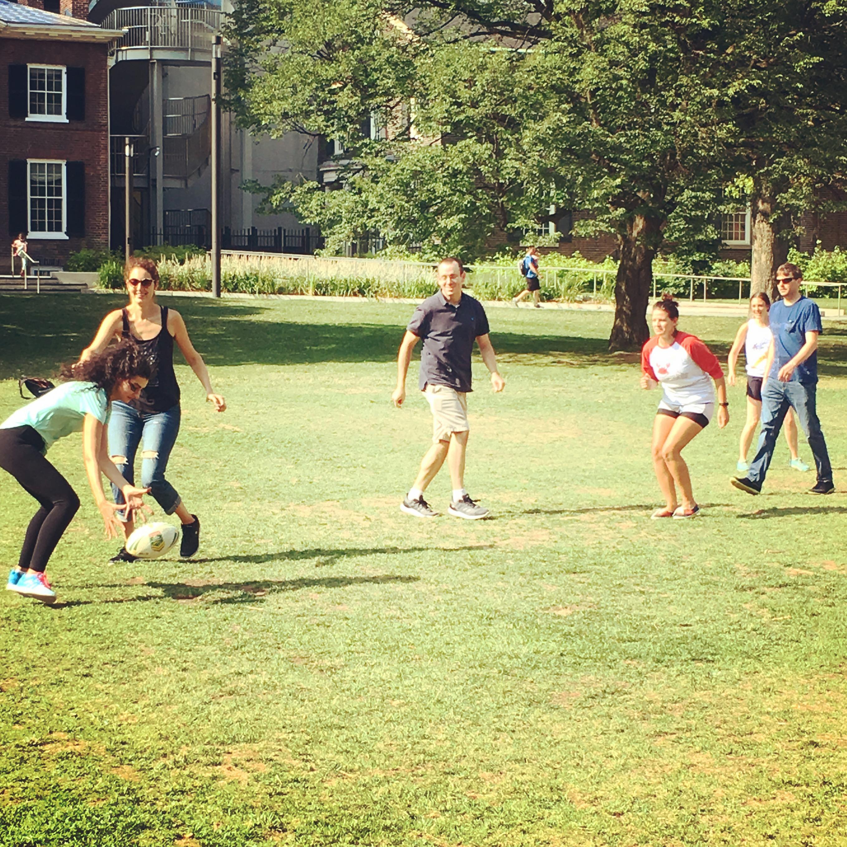 Kickball in the park - Summer 2018