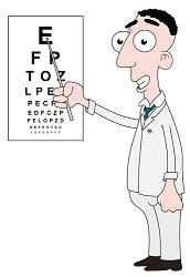 Image of an eye test