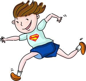 Image of a running girl