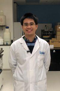 Harvard in his lab coat (2020) - A MSc student in the LMP program