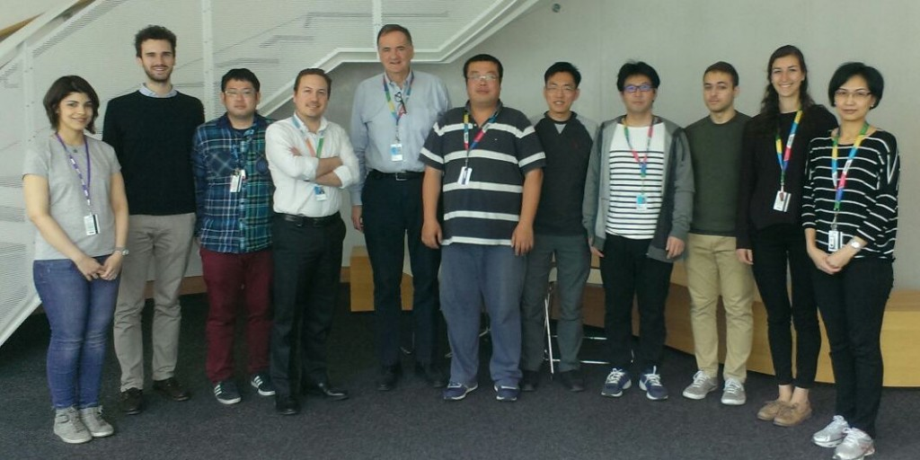 Photo Dr. Pierro's lab members taken on the 10th floor in the Research Institute