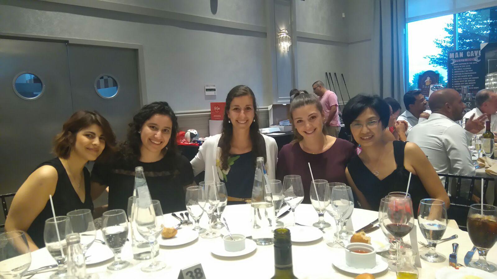 Photo of Niloofar Ganji, Forouhideh Peyvandi, Alison Hock, Tali Filler and Carol Lee at the Robert Naccarato Memorial Charity Golf Dinner (2016)