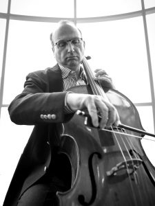 Image of Dr. Norman Rosenblum playing the cello