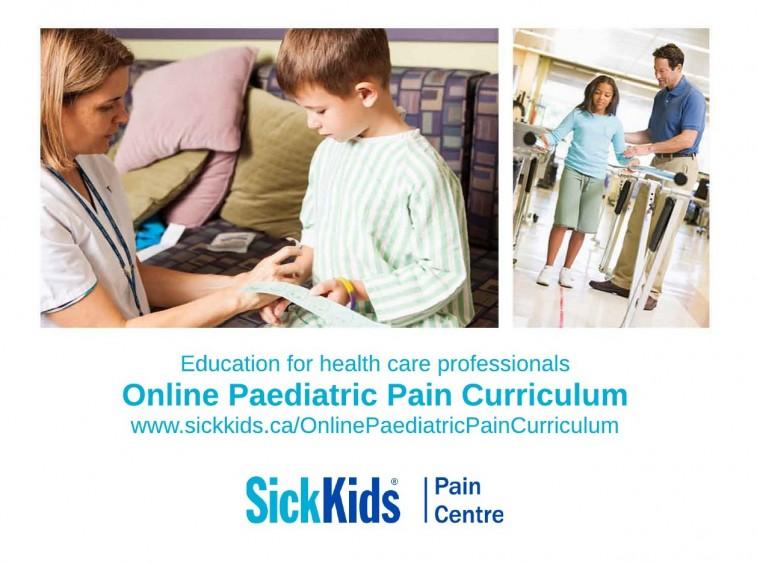Online Paediatric Pain Curriculum