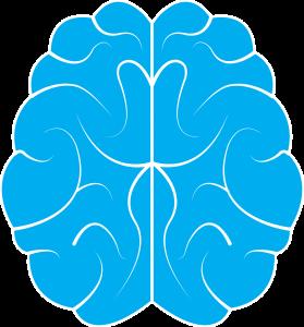 blue cartoon brain